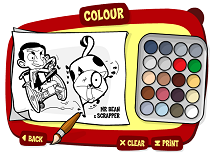 Mr Bean Colouring