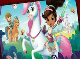 Nela Printesa Cavaler Aranjeaza Puzzle-ul