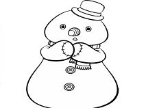 Snowman Doc McStuffins Coloring