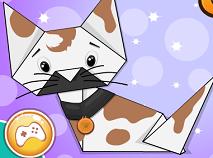 Minion Halloween Origami Cat