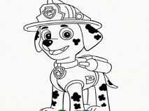 Paw Patrol Nick Coloring