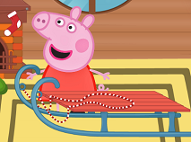 Peppa Pig Sledge Decoration