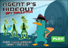 Phineas and Ferb: Agent P's Hideout Spy Simulation