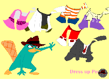 Phineas and Ferb: Dress up Perry