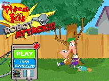 Phineas si Ferb in Atacul Robotilor