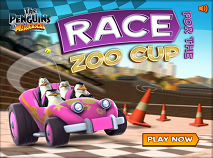 The Penguins of Madagascar Race for the Zoo Cup