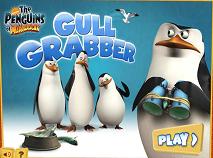Pinguinii din Madagascar Prinde Pescarusii