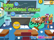 Pou Classroom Clean