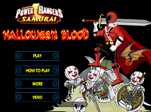 Power Rangers Samurai de Halloween