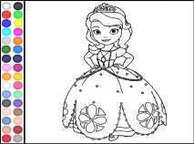 Princess Sofia The First Colouring