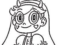 Printesa Stea de Colorat