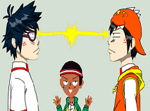 Puzzle cu BoboiBoy si Fang