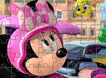 Puzzle cu Mickey si Pilotii de Curse