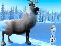 Puzzle cu Olaf si Sven
