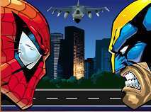 Puzzle cu Spiderman si Wolverine