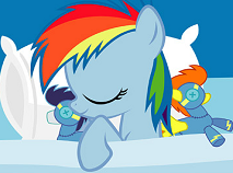 Rainbow Dash Sleeping