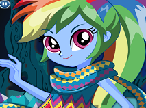 Rainbow Dash Dress Up Legend of Everfree