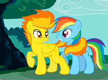 Rainbow Dash and  Spirtifire