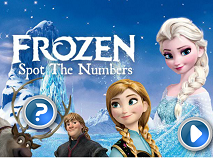 Frozen Spot the Hidden Numbers