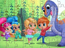 Shimmer and Shine Playing with Friends Puzzle