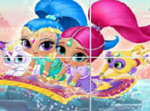Shimmer and Shine Sliding Puzzle