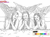 Sirenele H2O de Colorat