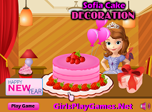 Sofia the first cake decoration