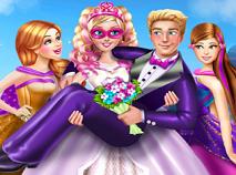 Super Barbie Mireasa de Imbracat