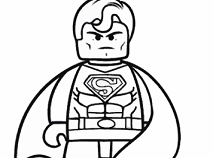 Superman Lego de Colorat