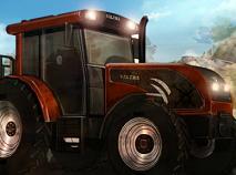 Tractor cu Remorca de Carat Lemne