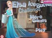 Elsa face Ice Bucket Challenge