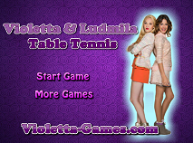 Violetta and Ludmila Table Tenis